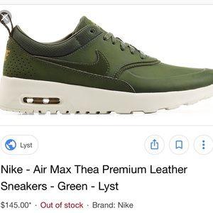 1fe518f83a76 Nike Shoes - RARE green air max premium leather
